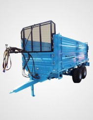 Solid Fertilizer Spreader Trailer - 10m³ Double Axle